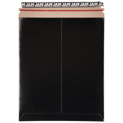 "JAM Paper® Photo Mailer Envelope, 11"" x 13 1/2"", 100% Recycled, Black"