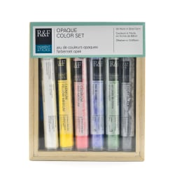 R & F Handmade Paints Pigment Stick Set, Opaque, 38 mL, Set Of 6