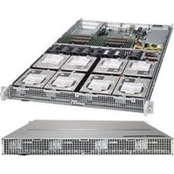 Supermicro SuperServer 6018R-TD8 Barebone System - 1U Rack-mountable - Intel C612 Express Chipset - Socket LGA 2011-v3 - 2 x Processor Support - Black - 1 TB DDR4 SDRAM DDR4-2133/PC4-17000 Maximum RAM Support - Serial ATA/600 RAID Supported Controller