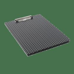 See Jane Work® Paperboard Padfolio Clipboard, Black Dot