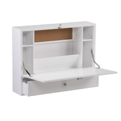 Southern Enterprises Wall-Mount Folding Laptop Desk, White