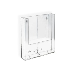 """Azar Displays Wall-Mount Brochure Holders, Trifold, 1 Pocket, 6 1/4""""H x 4""""W x 1 1/2""""D, Pack Of 10"""