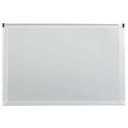 "JAM Paper® Plastic Envelopes, Zipper Closure, Legal-Size, 9 1/2"" x 15"", Clear, Pack Of 12"