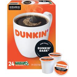 Dunkin' Donuts® Single-Serve Coffee K-Cup®, Dark Roast, Carton Of 24