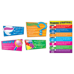 Carson Dellosa Education Reading Strategies Bulletin Board Set - Theme/Subject: Learning - Skill Learning: Reading, Strategy - 8 Pieces - 5-11 Year