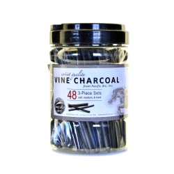 Pacific Arc Vine Charcoal 3-Piece Sets, Pack Of 48 Sets