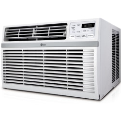 LG 8000 BTU Window Air Conditioner - Cooler - 2344.57 W Cooling Capacity - 340 Sq. ft. Coverage - Dehumidifier - Remote Control - Energy Star - White