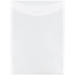 "JAM Paper® Plastic Envelopes, Letter-Size, 9 7/8"" x 11 3/4"", Clear, Pack Of 12"