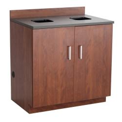 Safco® Modular Hospitality Base Cabinet, Waste Management, Mahogany/Rustic Slate