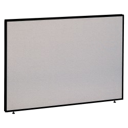"Bush Business Furniture ProPanels, 42 7/8""H x 60""W x 1 3/4""D, Light Gray/Slate, Standard Delivery"