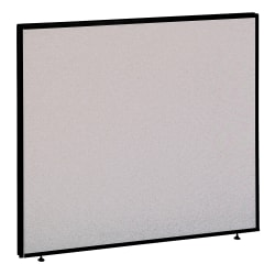 "Bush Business Furniture ProPanels, 42 7/8""H x 48""W x 1 3/4""D, Light Gray/Slate, Standard Delivery Service"