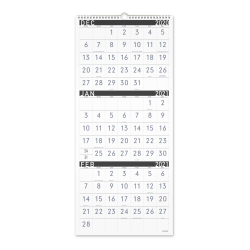 """AT-A-GLANCE® Contemporary 3-Month Reference 15-Month Wall Calendar, 12"""" x 27"""", December 2020 to February 2022, PM11X28"""