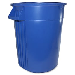 """Gator 44-gallon Container - Lockable - 44 gal Capacity - Crush Resistant, Impact Resistant - 31.6"""" Height x 23.8"""" Width - Polyethylene Resin, Plastic - Blue - 1 Each"""