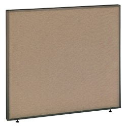 """Bush Business Furniture ProPanels, 42 7/8""""H x 48""""W x 1 3/4""""D, Taupe/Tan, Standard Delivery"""
