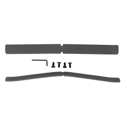 Bush Business Furniture ProPanels Single Panel Foot Kit , Light Gray/Slate, Standard Delivery