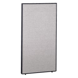"Bush Business Furniture ProPanels, 66 7/8""H x 36""W x 1 3/4""D, Light Gray/Slate, Standard Delivery"