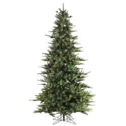 Fraser Hill Farm 7 1/2' Southern Peace Pine Artificial Christmas Tree, Green/Black