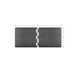 Smart Step Supreme Puzzle Runner 2-Piece Mat Set, 8'L x 3'W (Assembled), Gray