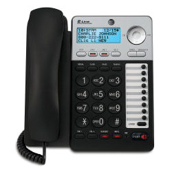 AT&T ML17929 2-Line Corded Phone with Caller ID/Call Waiting, Black