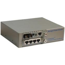 Omnitron Systems FlexSwitch 6551-2 Fast Ethernet Media Converter - 5 x RJ-45 , 1 x ST Duplex - 10/100Base-TX, 100Base-FX - External