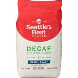 Seattle's Best Coffee® Ground Coffee, Level 3, Decaffeinated, Medium Roast, Portside Blend, 12 Oz Per Bag