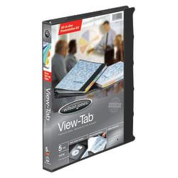 """Wilson Jones® All-In-One View-Tab® Presentation 3-Ring Binder, 5/8"""" Round Rings, Black"""