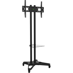 "Ematic Black Mobile TV Stand and Mount for 32""-55"" Screens - 32"" to 55"" Screen Support - 110 lb Load Capacity - Black"