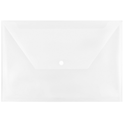 """JAM Paper® Plastic Booklet Envelopes With Snap Closure, Legal Size, 9 1/2"""" x 14 1/2"""", Clear, Pack Of 12"""