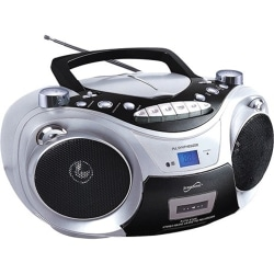 Supersonic Portable Bluetooth Audio System - 1 x Disc Integrated - Silver LCD - 99 Programable Tracks - CD-DA, MP3 - 1710 kHz, 108 MHz - USB - Auxiliary Input