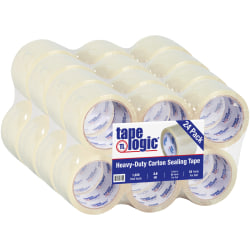 "Tape Logic® Acrylic Tape, 2.6 Mil, 3"" x 55 Yd., Clear, Case Of 24"