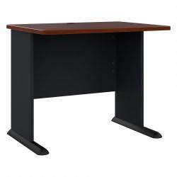"Bush Business Furniture Office Advantage Desk 36""W, Hansen Cherry/Galaxy, Standard Delivery"