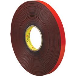 "3M™ VHB™ 4611 Tape, 1.5"" Core, 0.75"" x 5 Yd., Gray/Red"