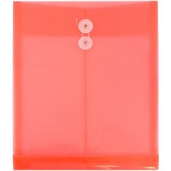 "JAM Paper® Open-End Plastic Envelopes, Letter-Size, 9 3/4"" x 11 3/4"", Pink, Pack Of 12"