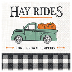 """Amscan Harvest Market Fall Lunch Napkins, Paper, 6-1/2"""" x 6-1/2"""", 16 Per Pack, Carton Of 5 Packs"""