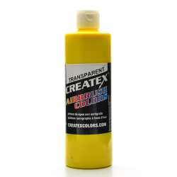 Createx Airbrush Colors, Transparent, 16 Oz, Brite Yellow