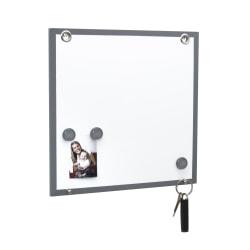 "Advantus Fusion Dry-Erase Magnetic Board, 12"" x 12"" 15/16"", White"