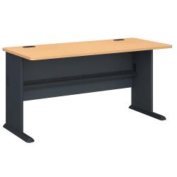 "Bush Business Furniture Office Advantage Desk 60""W, Beech/Slate, Standard Delivery"