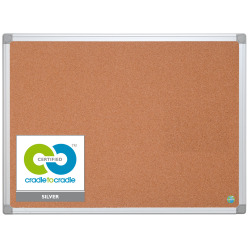 """MasterVision™ Earth Cork Board, 24"""" x 36"""", 80% Recycled, Silver Aluminum Frame"""