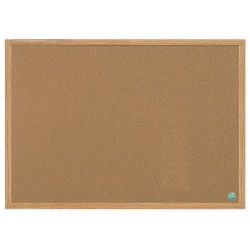 """MasterVision™ Earth Cork Board, 24"""" x 36"""", 60% Recycled, Silver Fiberboard Frame"""