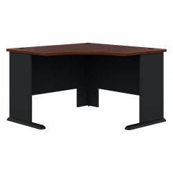 "Bush Business Furniture Office Advantage Corner Desk 48""W, Hansen Cherry/Galaxy, Standard Delivery"