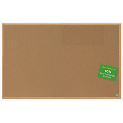 """MasterVision™ Earth Cork Board With Fiberboard Frame, 48"""" x 72"""", 60% Recycled"""