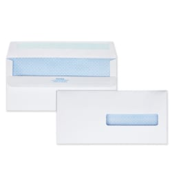 "Quality Park® Medical Claim Business Envelopes With Self Seal, #10, 4/12"" x 9 1/2"", White, Box Of 500"