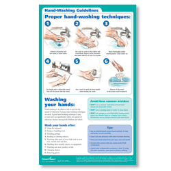 "ComplyRight™  Hand Washing Poster, English, 8 1/2"" x 14"""