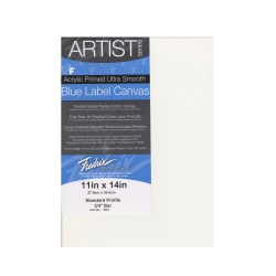 """Fredrix Blue Label Ultra-Smooth Pre-Stretched Artist Canvases, 11"""" x 14"""" x 11/16"""", Pack Of 2"""