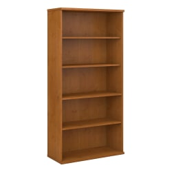"""Bush Business Furniture Components 5 Shelf Bookcase, 36""""W, Natural Cherry, Standard Delivery"""