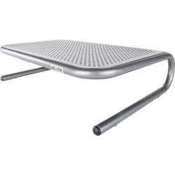 "Allsop® Monitor Stand Jr., 4""H x 14.5""W x 11""D, Pewter"