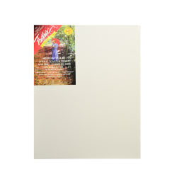"""Fredrix Red Label Stretched Cotton Canvases, 16"""" x 20"""" x 11/16"""", Pack Of 2"""