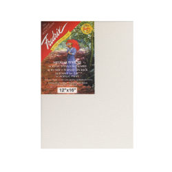 """Fredrix Red Label Stretched Cotton Canvases, 12"""" x 16"""" x 11/16"""", Pack Of 2"""