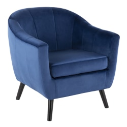 LumiSource Rockwell Contemporary Accent Chair, Black/Blue