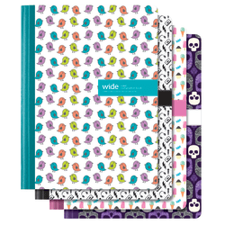 """Office Depot® Brand Fashion Composition Notebook, 7 1/2"""" x 9 3/4"""", 1 Subject, Wide Ruled, 80 Sheets, Assorted Designs (No Design Choice)"""